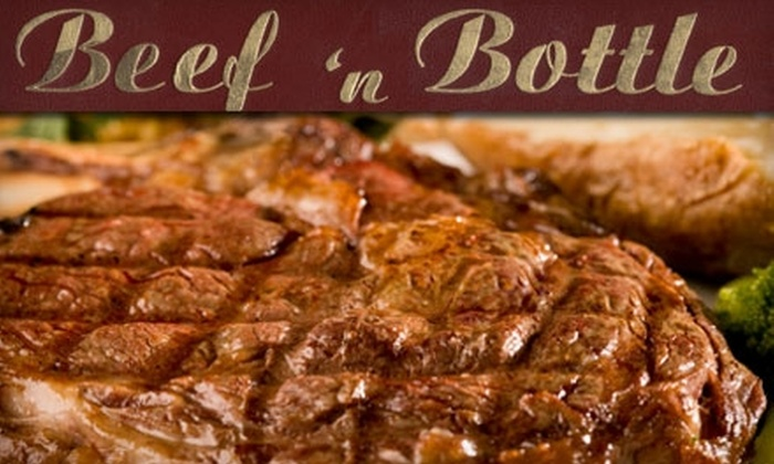 Beef & Bottle - Collingwood: $20 for $40 Worth of Steak, Seafood, Pasta, and More at Beef & Bottle