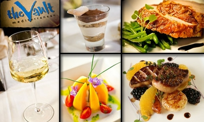 The Vault - Dallas: $25 for $50 Worth of Beverages and Bites at The Vault Mediterranean