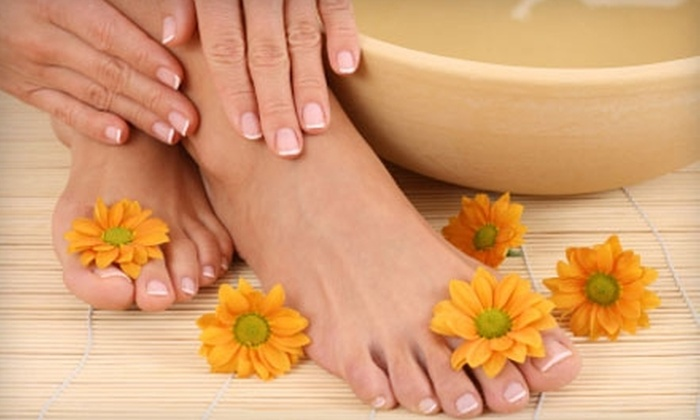 Nails 2 GoGo - Ward 6: $25 for a Very Cherry Mani-Pedi at Nails 2 GoGo ($50 Value)