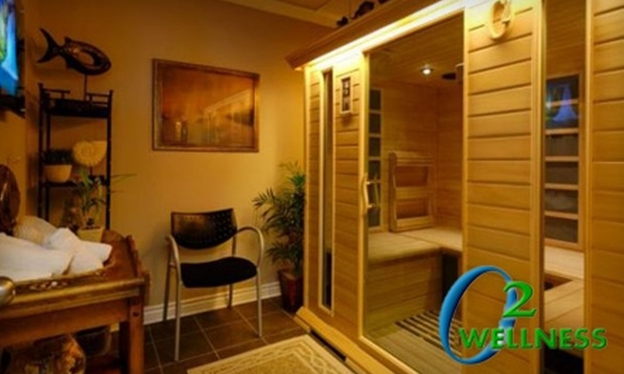 o2 Wellness - San Clemente: $49 for Five Infrared Sauna Treatments and Three Vibration Massages at o2 Wellness in San Clemente