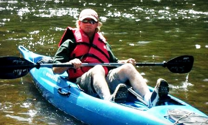 Jon Ron Toccoa River Outfitters - Morganton: $99 for a Group Adventure Package with Kayaking and Guided Hiking Trip in Blue Ridge from Jon Ron Toccoa River Outfitters ($210 Value)