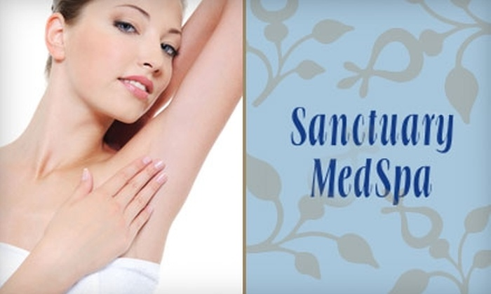 Sanctuary MedSpa - Merced: Laser Hair-Removal Packages at Sanctuary MedSpa. Choose from Two Options.