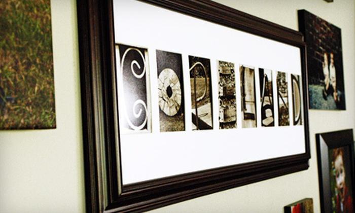 Frame The Alphabet: Standard or Deluxe Customized Alphabet Frame from Frame The Alphabet (52% Off)