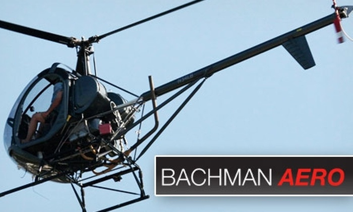 Bachman Aero - Schaumburg: $165 for One Helicopter Lesson or Ride at Bachman Aero