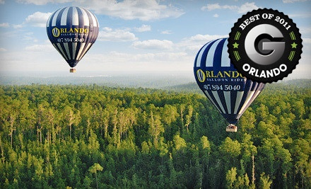 One Adult Admission for a Sunrise Ride in a Hot Air Balloon with Breakfast Buffet & Champagne Toast (a $175 value) - Orlando Balloon Rides in Kissimmee