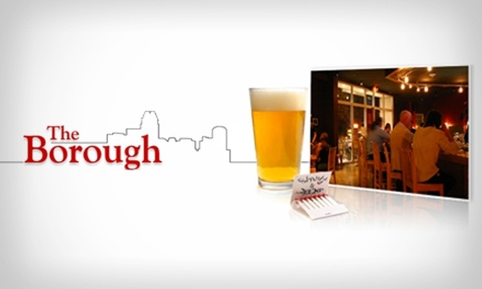 The Borough - Central Raleigh: $12 for $24 Worth of Comforting Fare and Drinks at The Borough