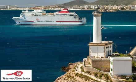 Bono de hasta 170€ de descuento en ferry Palma - Ibiza con opción de coche a bordo con Trasmediterránea