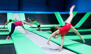 Bounce! Trampoline Sports: Two Hours of Jump Time for Two or Four at Bounce! Trampoline Sports (Up to 42% Off)