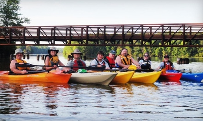 Get:Outdoors - Greensboro: $25 for a 24-Hour Single Kayak Rental ($50 Value) or $45 for a Three-Day Single Kayak Rental ($90 Value) from Get:Outdoors