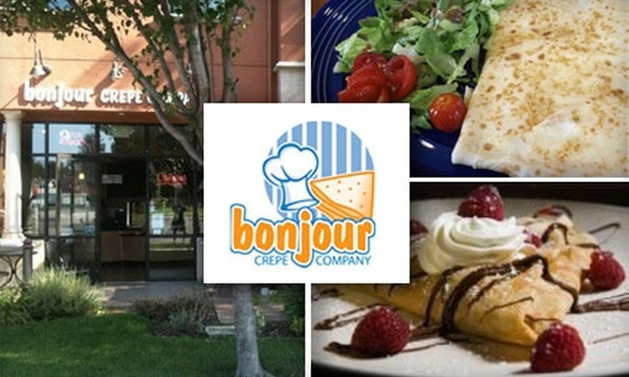 Bonjour Crêpe Company - Cupertino: $7 for $15 Worth of Sweet and Savory Crepes at Bonjour Crepe Company