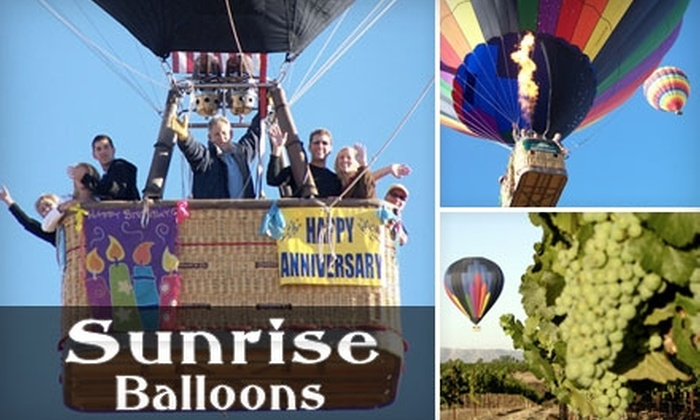 Sunrise Balloons - Murrieta: $98 for Hot-Air-Balloon Ride and Picnic With Sunrise Balloons