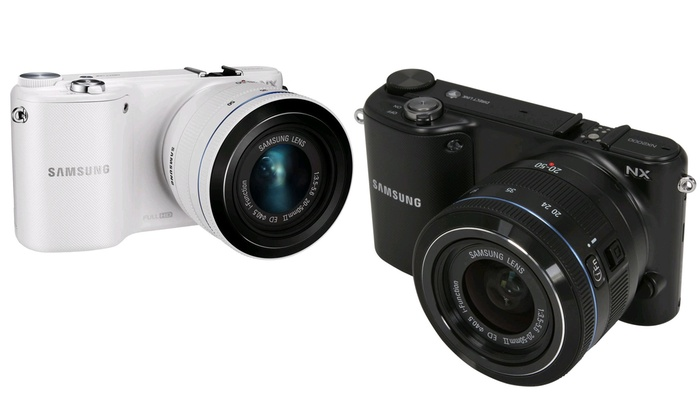 Samsung NX2000 20.3MP CMOS Smart WiFi Camera: Samsung NX2000 20.3MP Smart WiF Compact System Digital Camera with 20-50mm Lens and Photoshop Lightroom