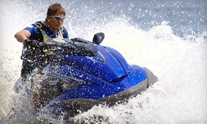 Adventure World - North Biscayne Beach: Two- or Four-Hour Watersports Package for Two with Jet-Ski Rental at Adventure World (Up to 81% Off)