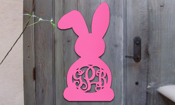 aMonogram Art: $19.99 for a Monogramed Easter Bunny Decoration from Authentic Monogram ($48.50 Value)