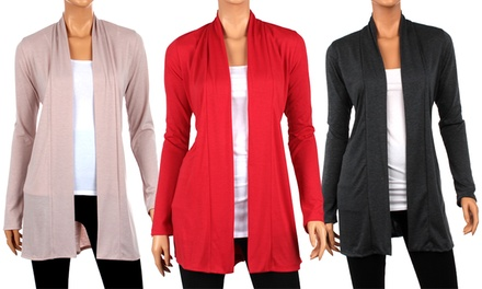 Hacci Straight-Panel Women's Cardigan