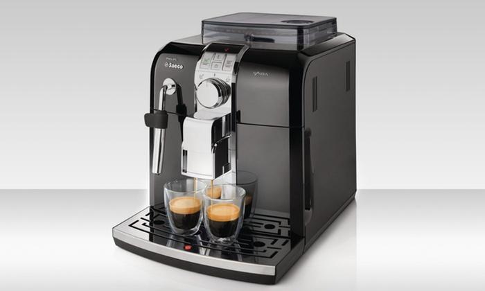 Saeco Automatic Espresso Machine: Saeco Syntia Focus Automatic Espresso Machine (Refurbished). Free Shipping and Returns.