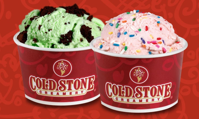 Love it and gotta have it size - ounces and how many portions of mix ins? Love it - 8 ounches Gotta Have it - 12 ounces both get 2 portions of mix ins empty the container on the cold stone and add mix ins. how to make an everybody size. fill a cambro, smooth the top, empty it on the cold stone and add mix ins Coldstone Creamery.