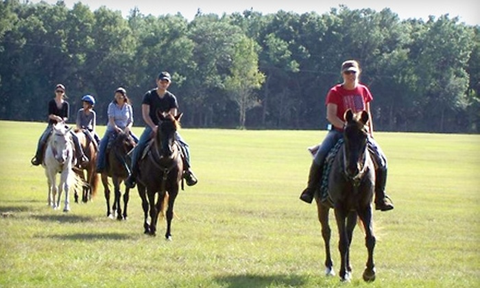 Cactus Jack's Trail Rides - Belleview: $23 for a 90-Minute Trail Ride from Cactus Jack's Trail Rides ($47.70 Value)