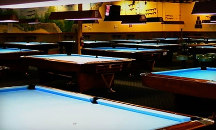 Shoreline Billiards - Mountain View: $18 for Two Hours of Unlimited Billiards on One Traditional Table at Shoreline Billiards in Mountain View ($36 Value)