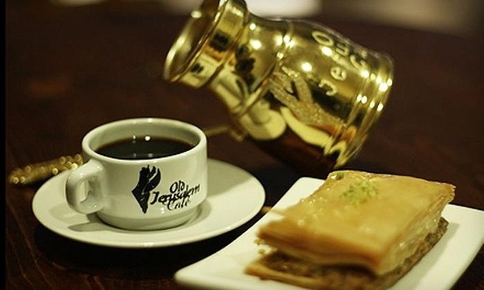 Old Jerusalem Café - San Francisco: Cafe Fare and Drinks or Private Party from Old Jerusalem Café