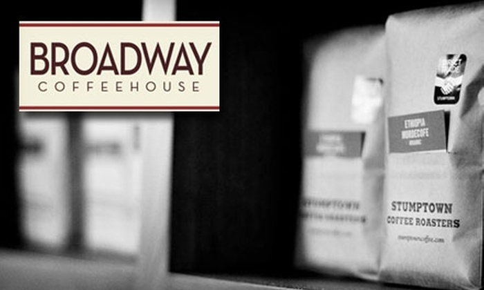 Broadway Coffeehouse - Grant: $5 for a Two-Drink and Two-Pastry Punch Card at Broadway Coffeehouse