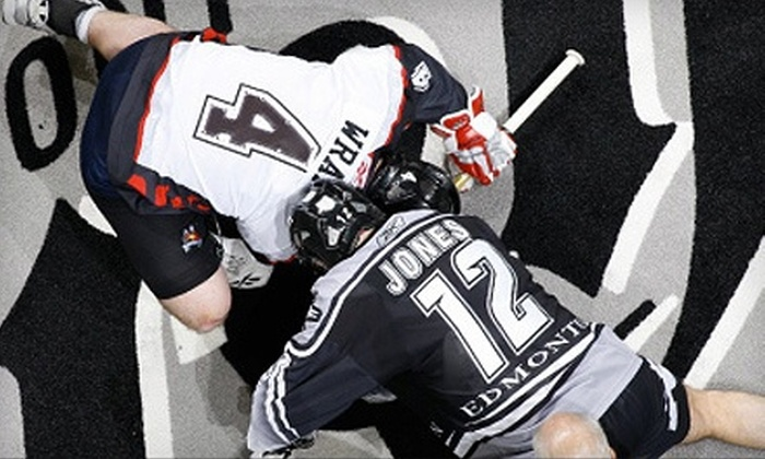 Edmonton Rush - Montrose: $25 for One or Two Tickets to See the Edmonton Rush at Rexall Place on April 14 at 7 p.m. ($56.25 Value)