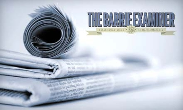 """The Barrie Examiner - Bayfield: $24 for a Three-Month Subscription to the """"Barrie Examiner"""" ($49.50 Value)"""