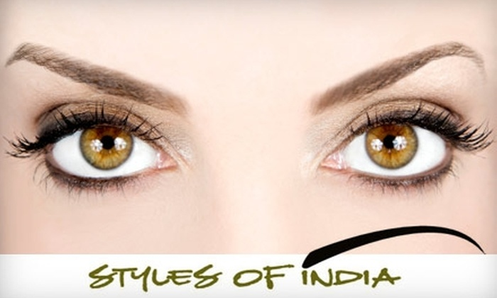 Styles of India - Multiple Locations: $5 for $10 Worth of Threading Services at Styles of India