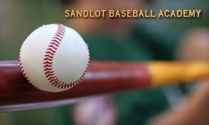 Sandlot Academies - Lawrence: Hitting and Pitching Sessions at Sandlot Academies. Choose Between Two Options.