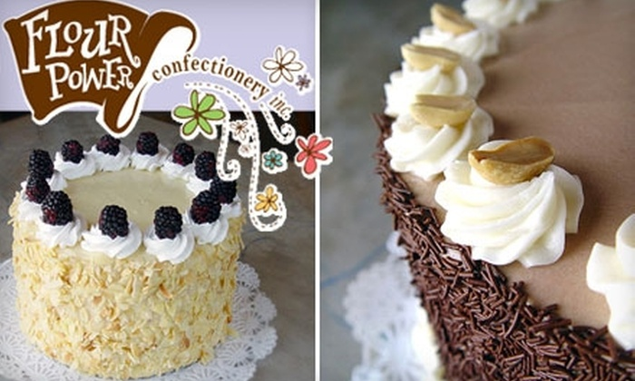 """Flour Power Confectionery - C: $16 for an 8"""" Cake at Flour Power Confectionery ($32 Value)"""