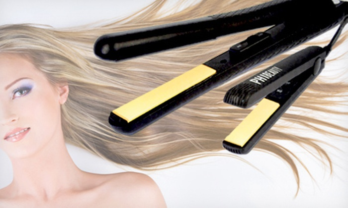 Ceramic Flat Iron Set: $29 for a PHI Beauty Ceramic Ionic Flat Iron Set ($149.99 Value). Two Style Options Available. Shipping Included.