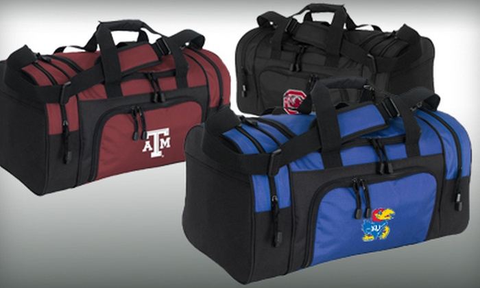 Collegiate or Single Color Duffle Bags: $25 for a Mercury Luggage Carry-On Ripstop-Nylon-and-Polyester Sport Duffel Bag From Groupon Goods ($44.99 value). 36 Options Available. Shipping Included.