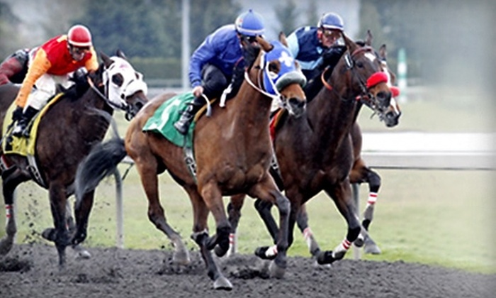 Emerald Downs - Auburn: $10 for Admission, a Program, and $10 Worth of Snacks and Drinks at Emerald Downs in Auburn (Up to $19.50 Total Value)