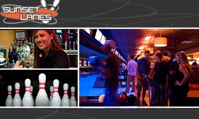 Sunset Lanes  - Central Beaverton: $7 for 3 Games of Bowling & Shoe Rental at Sunset Lanes