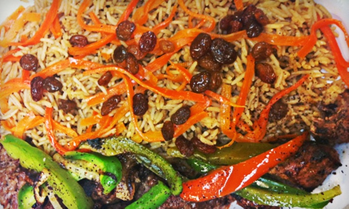 Afghan Kebob Grill - Franklin Township: Afghan Cuisine and Drinks at Afghan Kebob Grill (Up to 53% Off). Two Options Available.