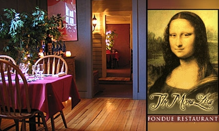 The Mona Lisa Fondue Restaurant - Manitou Springs: $15 for $30 Worth of Dunked Fare at The Mona Lisa Fondue Restaurant