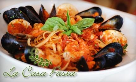 $40 Groupon to La Casa Pasta - La Casa Pasta in Newark
