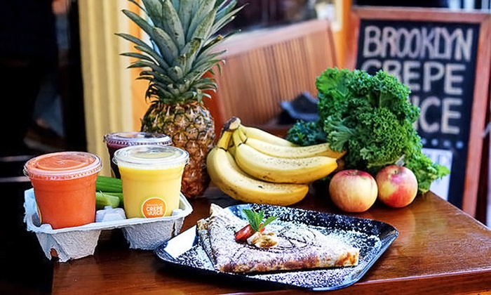 Brooklyn Crepe and Juice Bar - North Slope: Crepes, Smoothies, and Juice at Brooklyn Crepe and Juice Bar ( 50% Off). Two Options Available.
