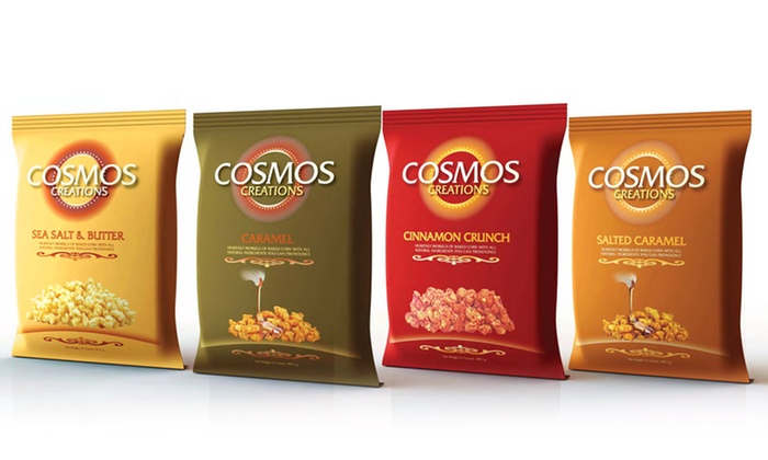 24-Pack of Cosmos Creations GMO-Free Corn Snacks : 24-Pack of Cosmos Creations GMO-Free Corn Snacks. Multiple Flavors Available. Free Shipping.