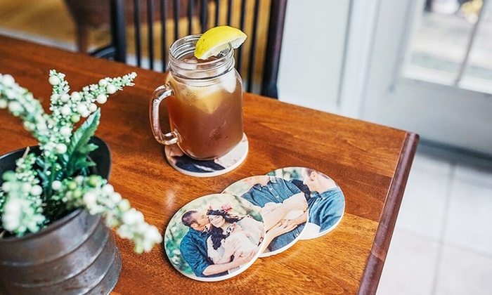 PhotoBarn: $14 for a Set of Four Custom Wooden Photo Coasters from PhotoBarn ($40 Value)