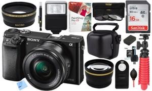 Sony a6000 24.3MP 1080p Digital Camera Bundles