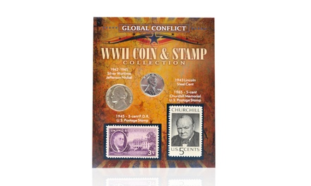 Global Conflict WWII Coin and Stamp Collection