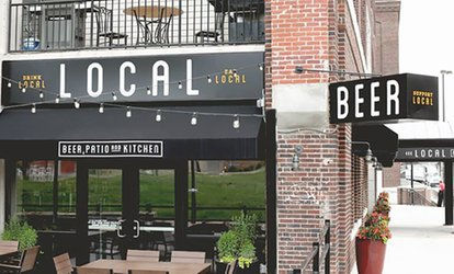 Gourmet Pub Grub for Lunch or Dinner at Local Beer Patio and Kitchen (Up to 54% Off). Three Options Available.