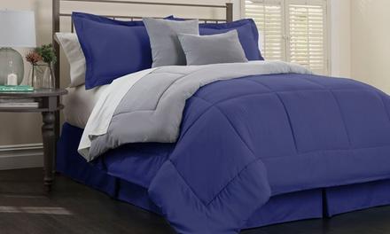 Hotel New York Reversible Down Alternative Comforter Set (6-Piece)