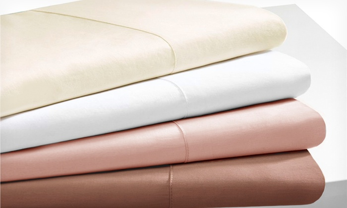 Hotel Grand 600TC Egyptian-Cotton-Rich Sheet Sets: $49.99 for Egyptian-Cotton-Rich Sheet Set ($129.99 List Price). Multiple Colors Available. Free Shipping and Returns.