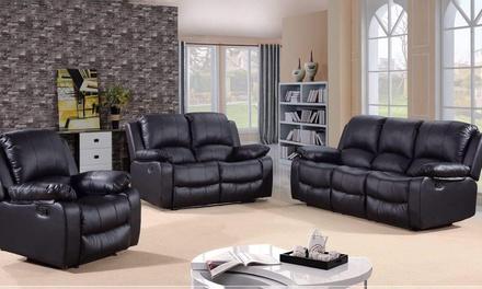 Awe Inspiring Fernandez Bonded Leather Reclining Sofa Sets With Free Ibusinesslaw Wood Chair Design Ideas Ibusinesslaworg