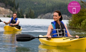 Rivergods Paddle Adventures: Kayak Paddle Pass Hire for Two ($67), Four ($129) Six People ($189) with Rivergods Paddle Adventures (Up to $540 Value)