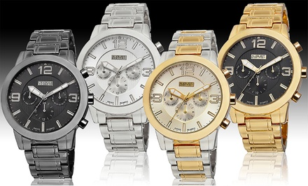 August Steiner Men's Multifunction Bracelet Watch. Multiple Styles Available.