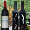 Wine Tool Set in Wine Bottle (5-Piece)