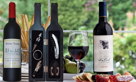5-Piece Wine Tool Set in Wine Bottle